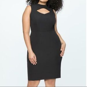 Eloquii black cutout detail dress New